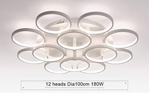 5151BuyWorld lamp circel ringen minimalisme moderne LED home hanglamp voor de lampen, welke verlichting voor de slaapkamer met afstandsbediening donker voor kroonluchter {12 heads & 12 heads}