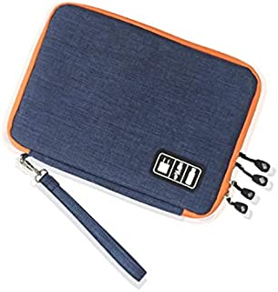 High Grade Nylon 2 Layers Travel Electronic Accessories Organizer Bag,Travel Gadget Carry Bag, Perfect Size Fit for iPad- ...