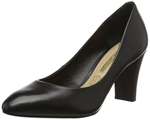 Buffalo London Damen ZS 5700-15 Semi Cromo Pumps, Schwarz (Black 01), 38 EU