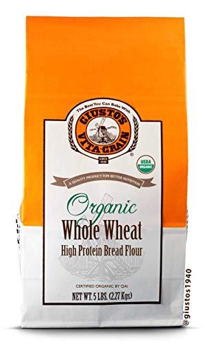 Giusto's Vita-Grain Organic Whole Wheat High Protein Flour, 5lb Bag