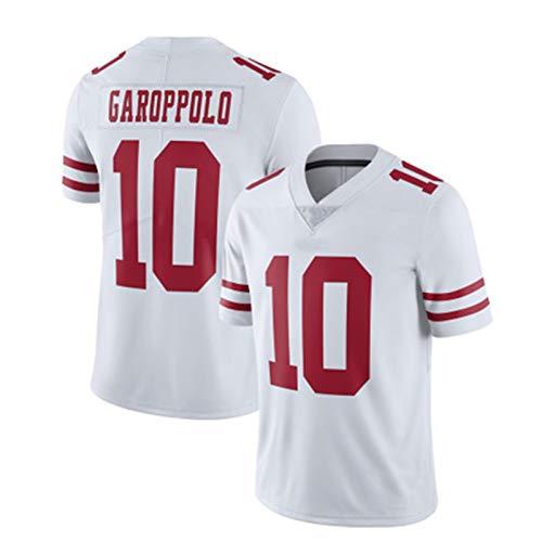 WHUI Jersey de Rugby para 49ers, Camisas atléticas para Hombres, Transpirable y Secado rápido, Adecuado para Entrenamiento Diario, Blanco XL-10