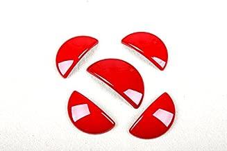 LVBAO Interior Door + Glove Storage Box Handle Cover Caps for Mini Cooper JCW ONE S R60 Countryman (R60 Countryman, Red)