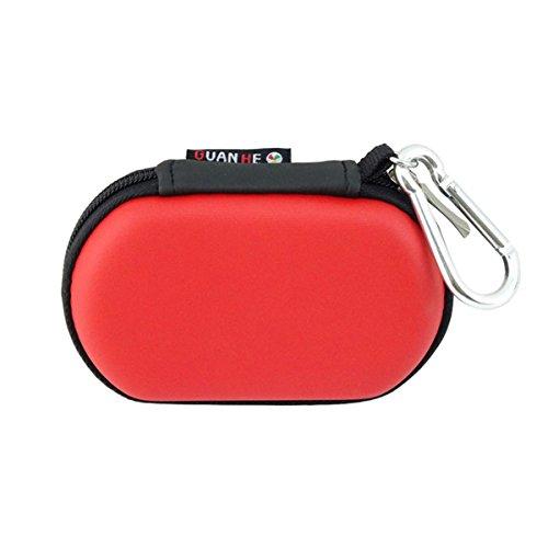 BAIGIO Organiseur pour câbles universels, câbles USB, disques durs ; Étui de voyage ; Porte-accessoires électroniques rouge rouge