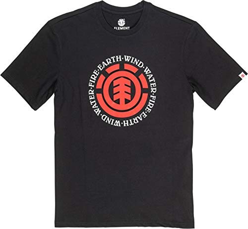 Element Herren Tees Seal SS, Flint Black, XL, Q1SSA8