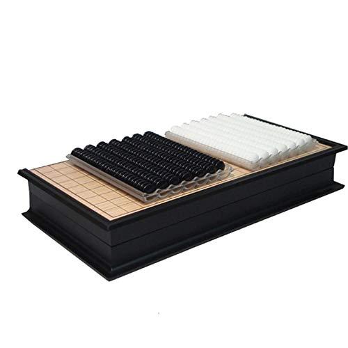 Dfghbn Weiqi-Spiel Portable GO Game Set Plastikschachstücke mit faltbarem GO Bord-Reise-Spiel Chinesisch-Go-Spiel Weiqi Go Chess (Farbe : Black and White, Size : One Size)
