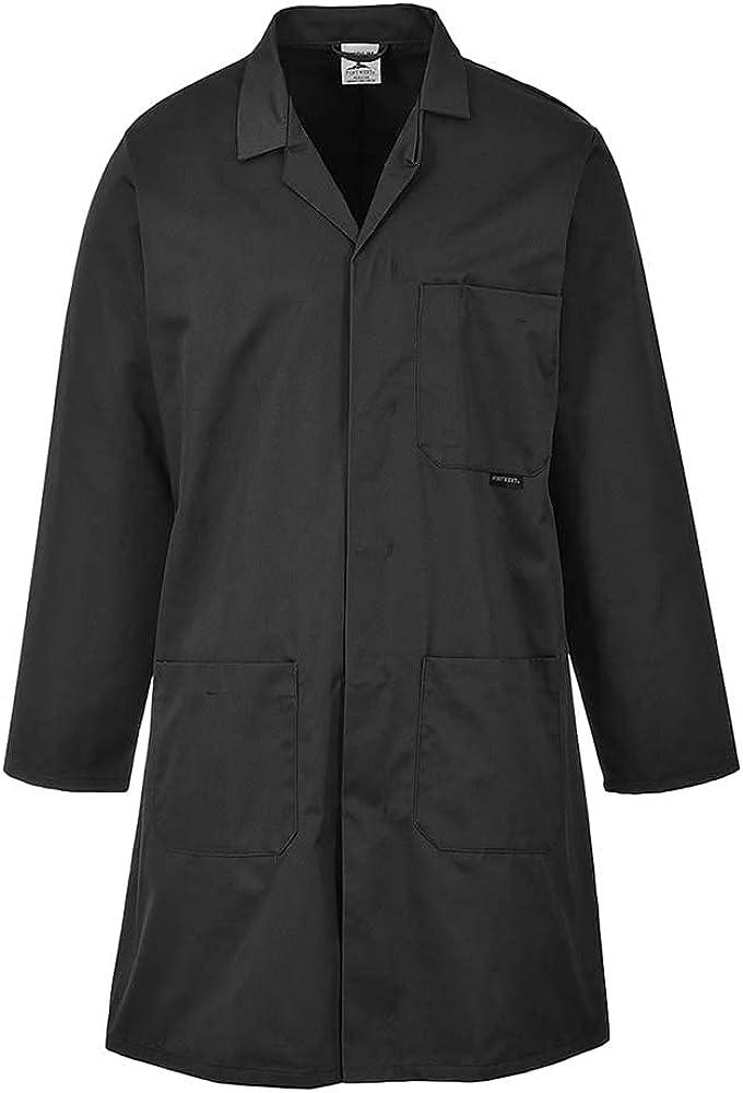 Portwest Workwear 2852 Mens Standard Coat Black Small