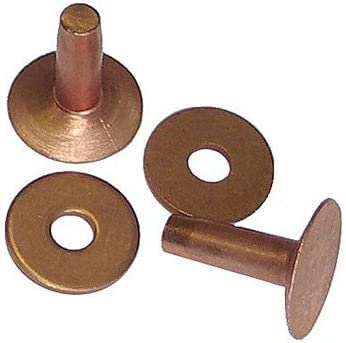 C.S. Osborne 100 Qty Oklahoma City Mall and Co. No. Large discharge sale Copper Size - 1700 8 Rivets