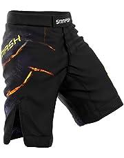 SMMASH Stone Deporte Profesionalmente Pantalones Cortos MMA para Hombre, Shorts MMA, BJJ, Grappling, Krav Maga, Material Transpirable y Antibacteriano