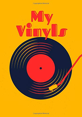 My Vinyls: Notebook to list all your vinyls records⎪Easy index to facilitate your research⎪Practical sheets with different headings⎪Log book in 7x10 inch format⎪elegant Pop design⎪glossy cover