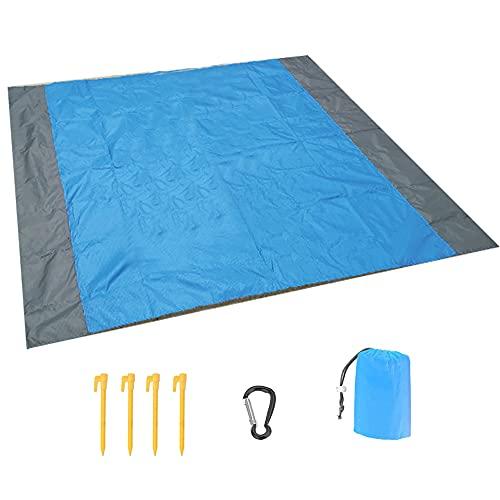 Manta de pícnic 210 × 200 cm, resistente a la arena, impermeable, para viajes, playa, playa, camping, senderismo y excursiones