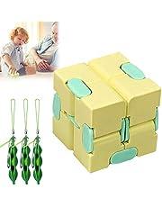 Infinity Cube, friemelpuzzel, kubus, bal, 3 stuks, speelgoed voor het verlichten van stress, 3D-puzzel, friemelspeelgoed geschikt voor onrust, stress, ADHD, kantoorpersoneel, volwassenen en kinderen