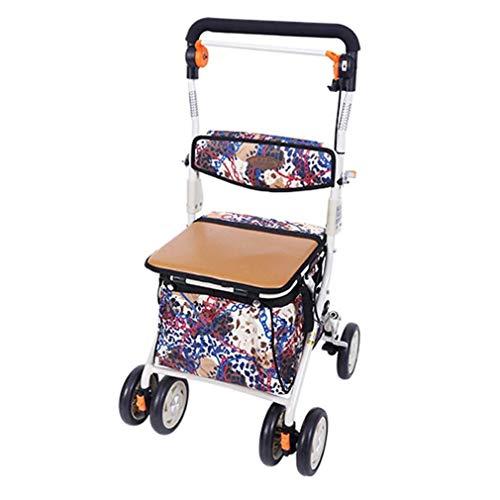 Walker voor ouderen Mobiliteit Draagbare Rollator Walker, Rechtopstaande houding Rolling Walker Grote Ruimte, Super Lichtgewicht Aluminium, Drive Medische Wiel Walking Aids met 4 Wiel, voor Seniors Shopping Pa