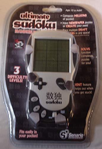 Senario Entertainment Ultimate Sudoku Handheld Edition 3 Levels of Difficulty by Senario