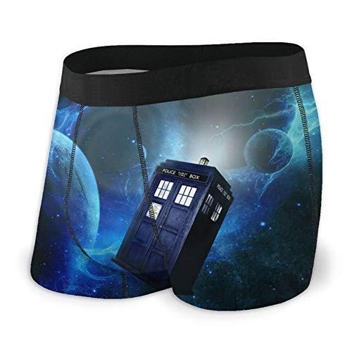 Doctor_Who Herren Boxershorts Erwachsene Unterwäsche Bequem mit weichem Stoff und elastischen Gürteltaschen - Violett - Large