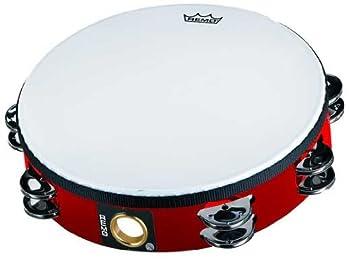 Remo TA-5210-52 Fiberskyn Tambourine - Quadura Deep Red 10