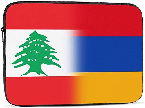 BONRI Lebanon and Antigua and Barbuda Flag Laptop Sleeve Bag Compatible with 10-17 Inch Classic Computer Bag Laptop Case-Lebanon And Armenia Flag,15inch