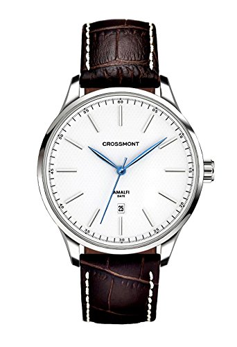 Crossmont Amalfi Bianco Marrone Sport 40.9 mm, Cristal de Zafiro Reloj de Pulsera Relojes de Moda CW0110409