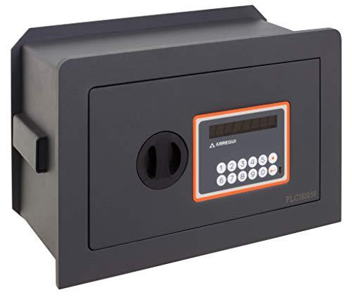 Arregui Plus C Electrónica 181110 Caja fuerte de empotrar, 10+3 mm de espesor, apertura electrónica, con fondo regulable, 21x32x15 a 22 cm, 4 a 8 L