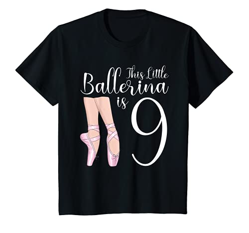Youth 9 Year Old Ballerina Birthday Party Dance Ballet 9th Gift T-Shirt