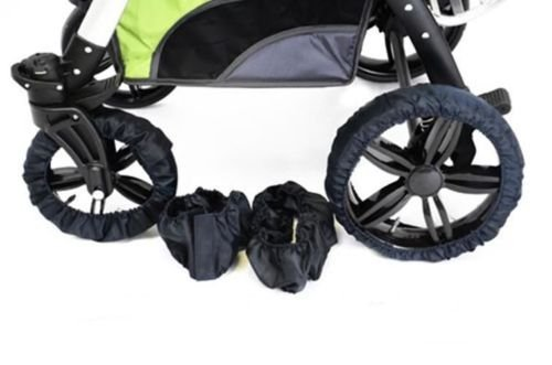 Best For Kids Reifenschutz für Kinderwagen 2 Modelle zur Auswahl (Modell 1 - Schwenkbare Vorderrädern)