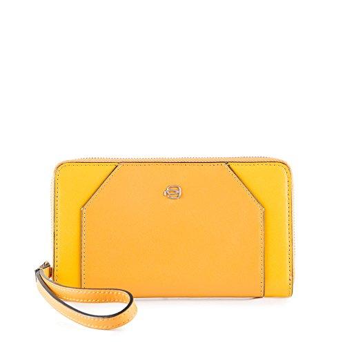 Piquadro Damen Muse Portemonnaie, Gelb (Giallo G), 3x10x17 cm