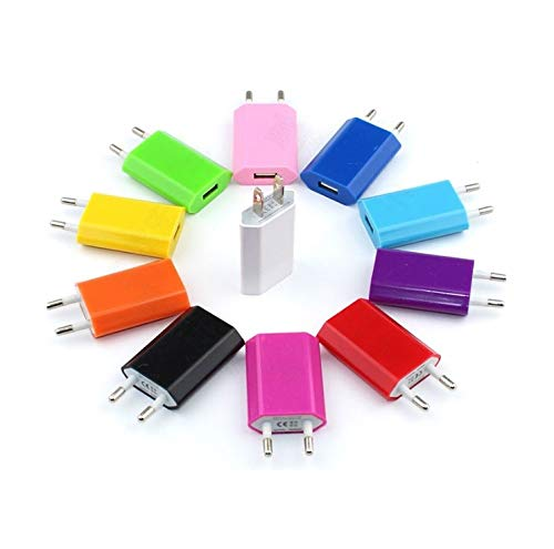 Shot Case Adaptador USB Enchufe Pared para iPhone 4/5/6/7/8S C X Plus Sector 1Puerto Corriente AC Cargador Blanco