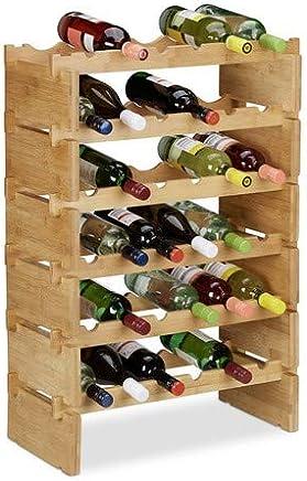 45 x 17x 31 cm Relaxdays /Étag/ère bouteilles de vin noyer porte-bouteilles en bois 8 places alv/éole rustique campagne HxlxP nature