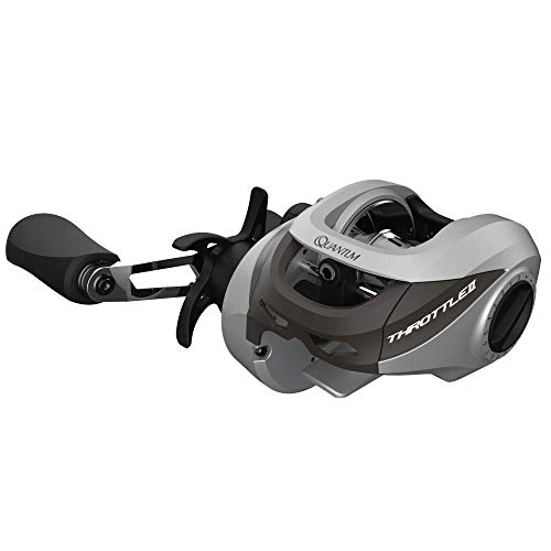 Quantum Throttle 100 Baitcasting Reel, 6.6:1 Gear Ratio, 7BB+1RB Bearings, Right Hand