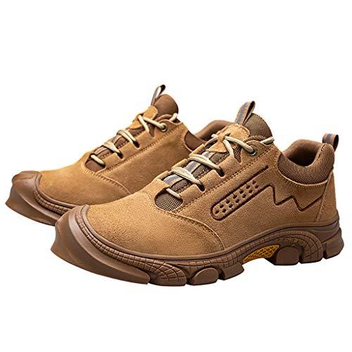 Zapatos de seguridad Zapatos de seguridad para hombres TOE TOE CAP TRIPANTADORES ANTI-SLIP TRIPANTADORES, Senderismo Cocina de trabajo Industrial y construcción Calzado de tobillo botas de trabajo