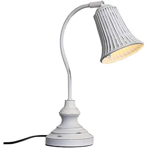 HTL Lámpara de Lectura Iluminación Decorativa Minimalista Lámpara de Escritorio con Pantalla de Tela Y Tire Del Interruptor de Cadena Simple Moderna Lámpara de Mesa de Noche para Sala de Estar, Dormi