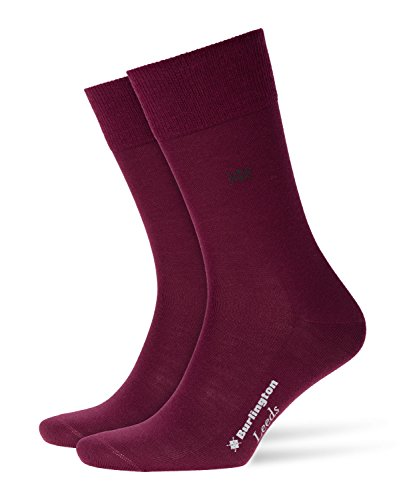 Burlington Herren Leeds M SO Socken, Blickdicht, Rot (Merlot 8005), 40-46 (UK 6.5-11 Ι US 7.5-12)