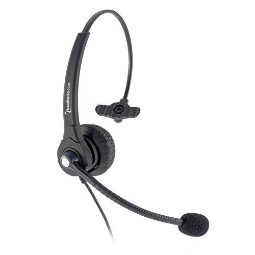 Única orelha com fio de escritório Call Center Headset com 4-Pin RJ9 desconexão rápida Conector Cabo para a maioria analógico e telefones de mesa de VOIP. Ayaya, Nortel, ShoreTel, Polycom, Cisco.