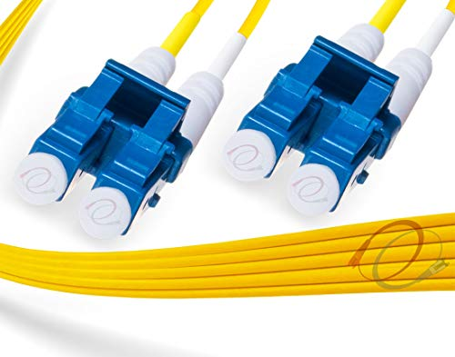 FiberCablesDirect - 1M OS2 LC LC Fiber Patch Cable | Duplex 9/125 LC...