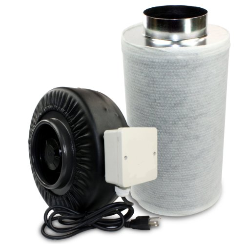 """New Hydropronic 6"""" Inline Fan With Carbon Filter Combo Odor Control Air Quiet"""