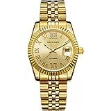 BRIGADA Men's Watches Swiss Brand Nice Classic Luxury Gold Hollow Mechanical Automatic