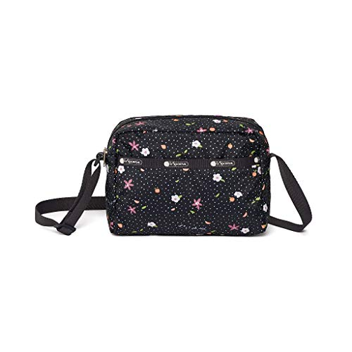 LeSportsac Fruity Petals Daniella Crossbody Handbag, Style 2434/Color F670, Delicate Colorful Flowers and Fruits, Abstract Confetti Style Design