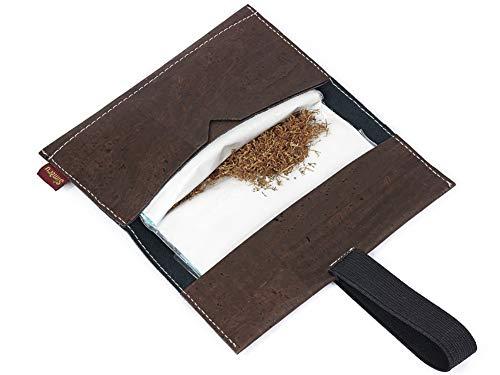 SIMARU Borsello porta tabacco in sughero estremamente stabile portatabacco in sughero borsello portatabacco busta portatabacco (marrone)