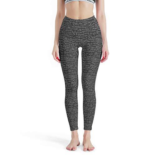Charzee Mathe Theme Yoga Pants broek Elastische hoge taille Sport Capri loopbroek Comfort Stretch joggingbroek S-XL