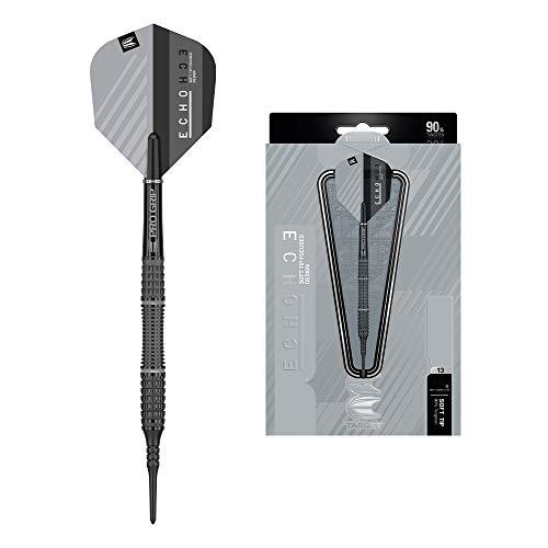 Target Darts Echo 13 18G 90% Tungsten Soft Tip Darts Set Wolfram, schwarz/grau, 18 g