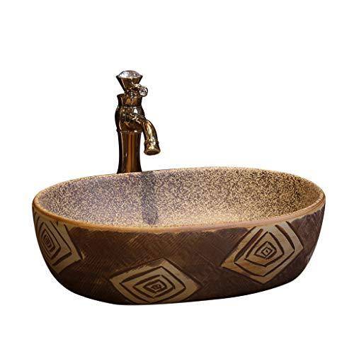 Retro Creative Jingdezhen Ceramic Hotel wastafel voor badkamer