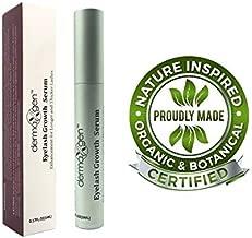 dermaXgen Eyelash Growth Serum- Pure Organic - Enhancement For Longer,Fuller & Thicker Lashes and Eyebrows