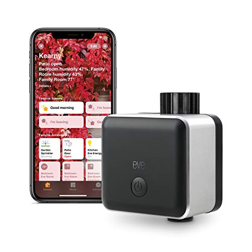 Eve Aqua - Smart Water Controller with auto Shut-Off, Autonomous schedules, Remote Access, Child Lock, no Bridge Necessary (Apple HomeKit)