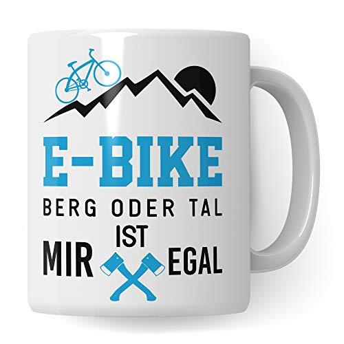 Tasse E Bike, Ebike Geschenk Kaffeetasse Spruch, E-Bike Elektrofahrrad Pedelec Geschenkidee