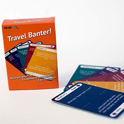 Travel Banter – Tarjetas de Preguntas para Principiantes de conversación sobre Viajes y Cultura, 98 Preguntas + 51 Fotos a Todo Color