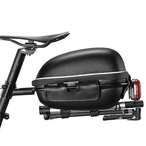 Chengzuoqing Bolsa para sillín de bicicleta, estantería para bicicleta, paquete de alforja para cola de bicicleta, bolsa de mountain bike