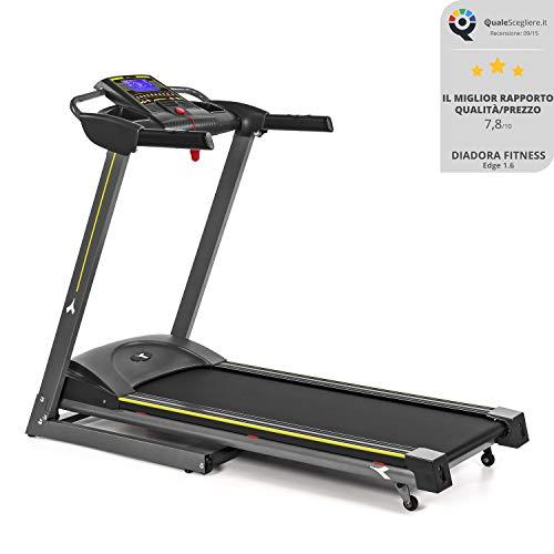 Diadora Fitness Edge 1.6 Tapis Roulant, 1.5 HP, Velocità 13 km/h