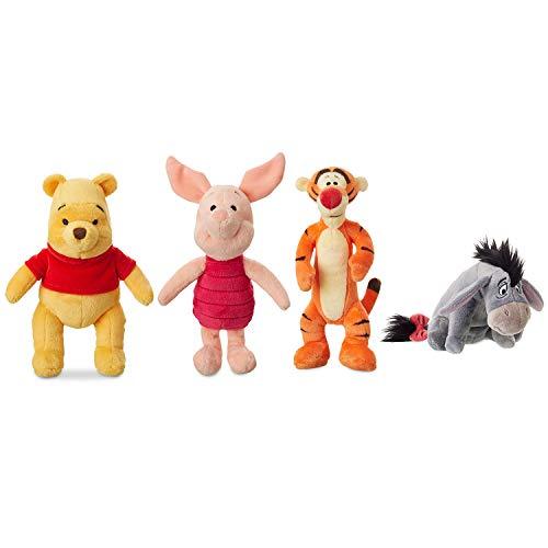 Price Toys Winnie The Pooh Kuscheltier Disney Mini Bohne Collection.- Pooh, I-Ah, Ferkel und Tigger (Pooh / Piglet / Tigger / I-Ah)