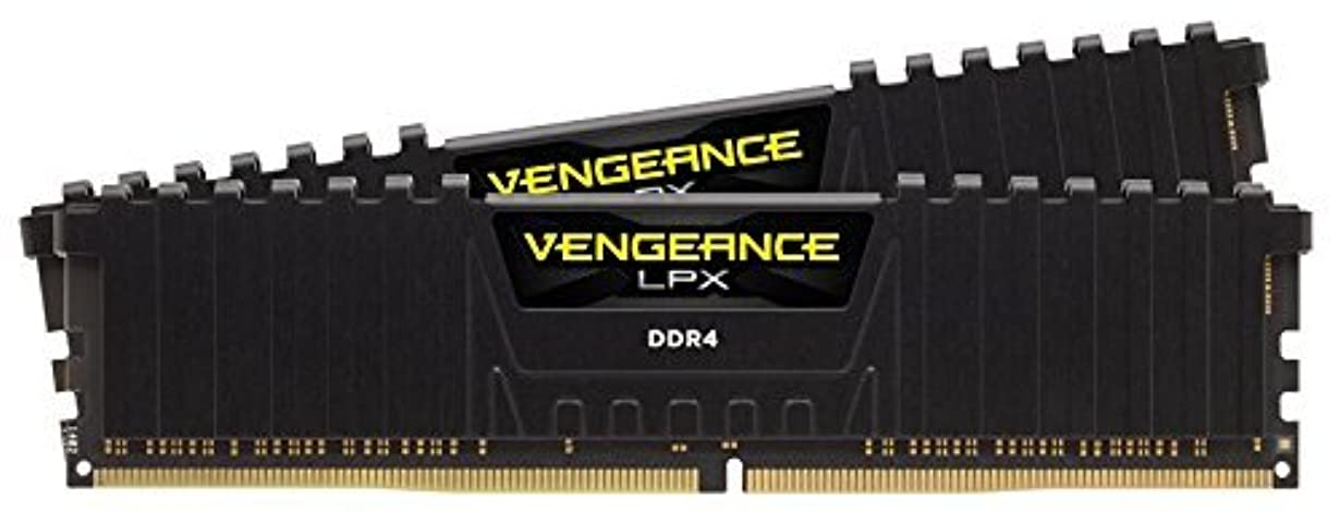 インペリアル鮫学校Corsair Vengeance LPX 32GB (2 X 16GB) DDR4 3000 (PC4-24000) C16 1.35V Desktop memory - black PC memory CMK32GX4M2C3000C16 [並行輸入品]