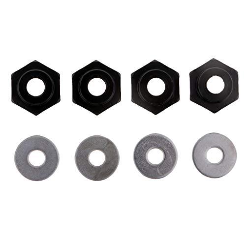 Desconocido Generic 4 Acopladores Hexagonales de Rueda de Metal para Orugas RC 1/10 1/8