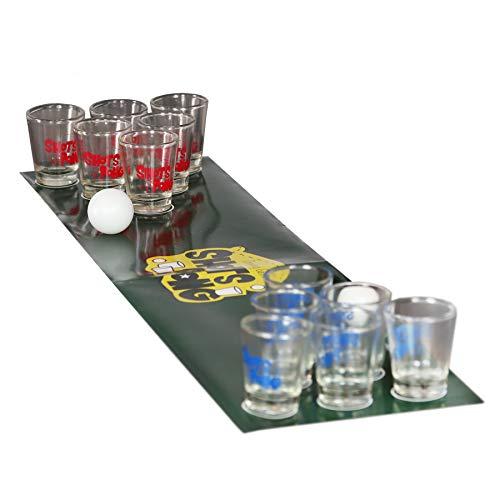 Monsterzeug Shots Pong Trinkspiel, Bier Pong mit Schnapsgläsern, Partyspiel für Erwachsene, Lustige Trinkspiele, Mini Pong, Junggesellenabschied